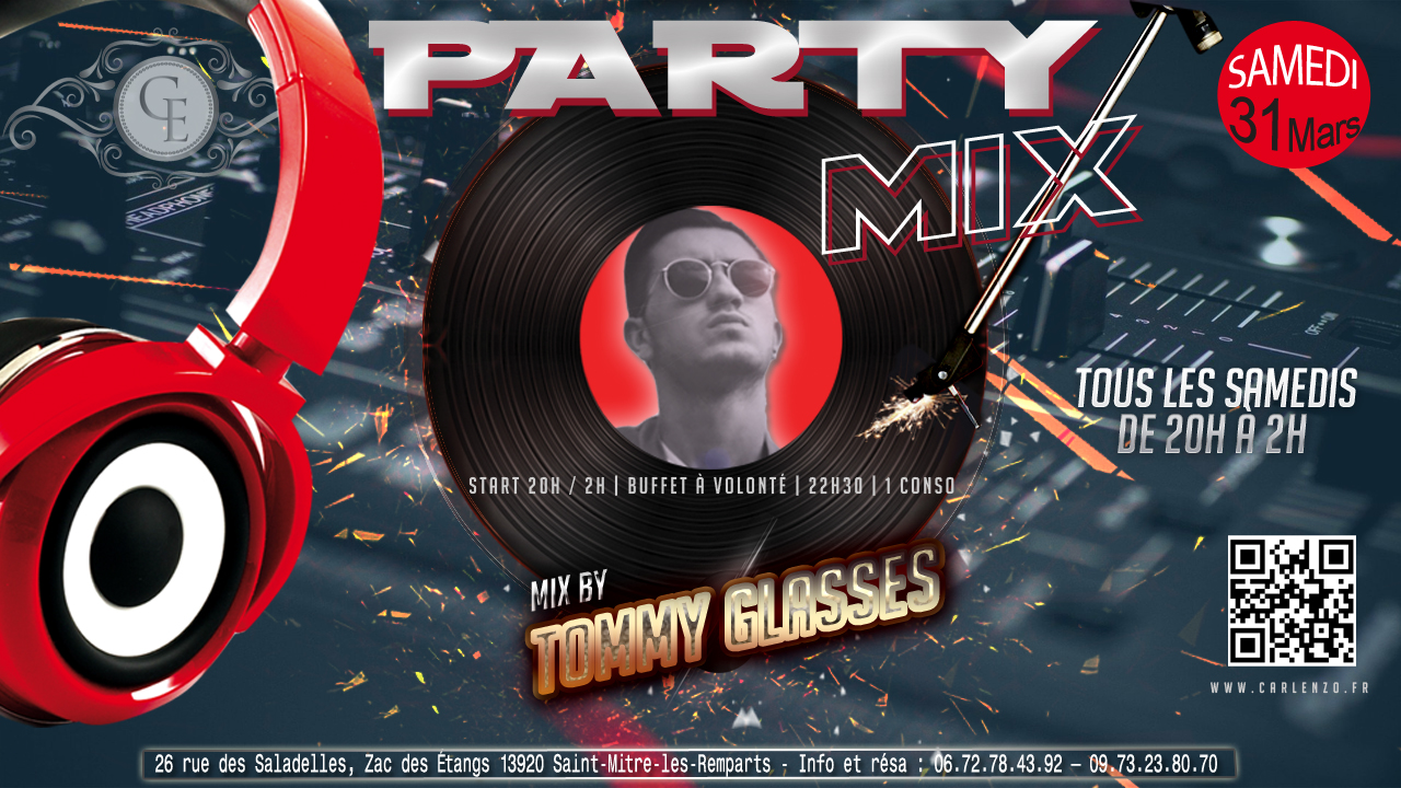 party mix - tommy glasses