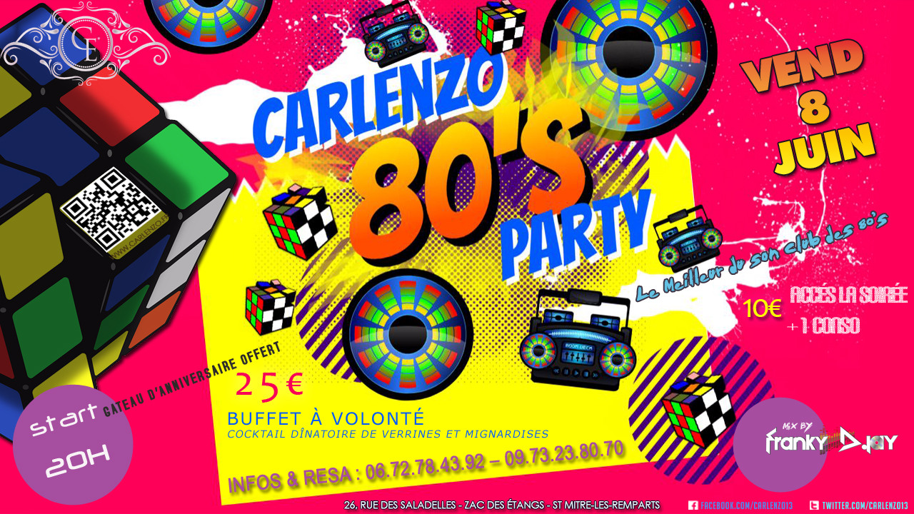 80's party carlenzo juin