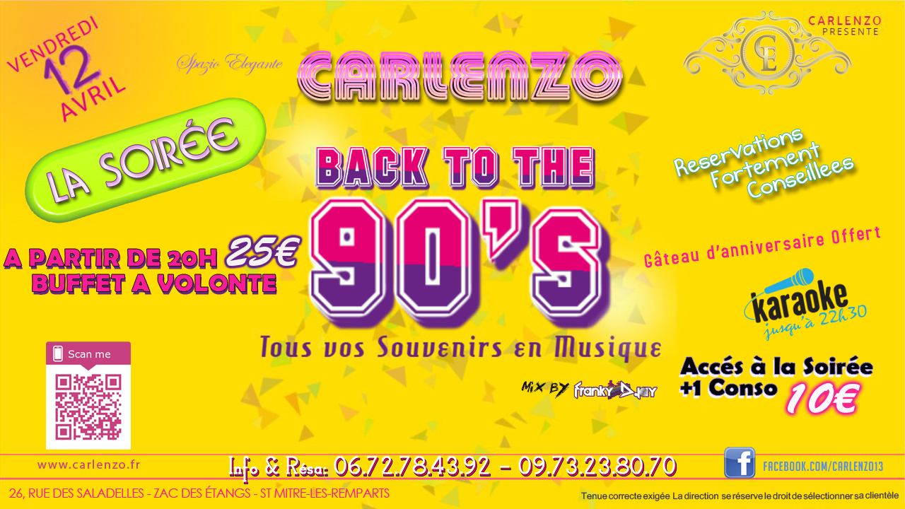 back to the 90's 12 avril
